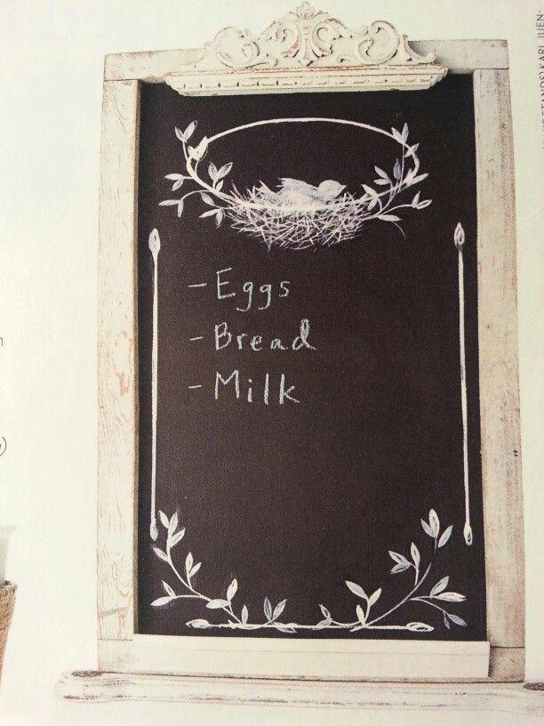 Frame chalkboard | DIY projects | Pinterest
