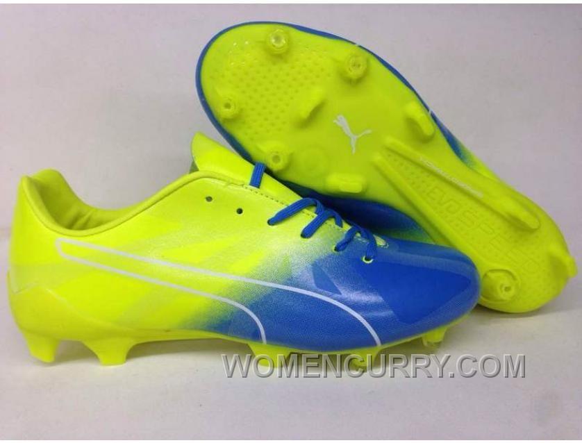 Puma EvoSPEED Fresh 2 FG Fresh2 FG Soccer Shoes Yellow Blue Best