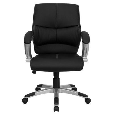 Flash Furniture Leather Office Executive Chair With Stitching U0026 Reviews |  Wayfair