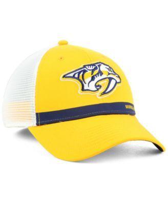 25c25dc6883 Authentic Nhl Headwear Nashville Predators Rinkside Trucker Adjustable Cap  - Gold Adjustable