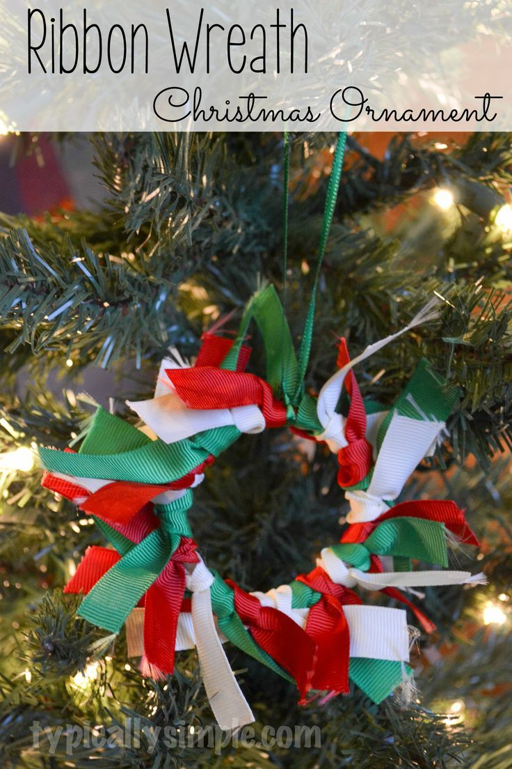 Photo of Ribbon wreath Christmas ornament