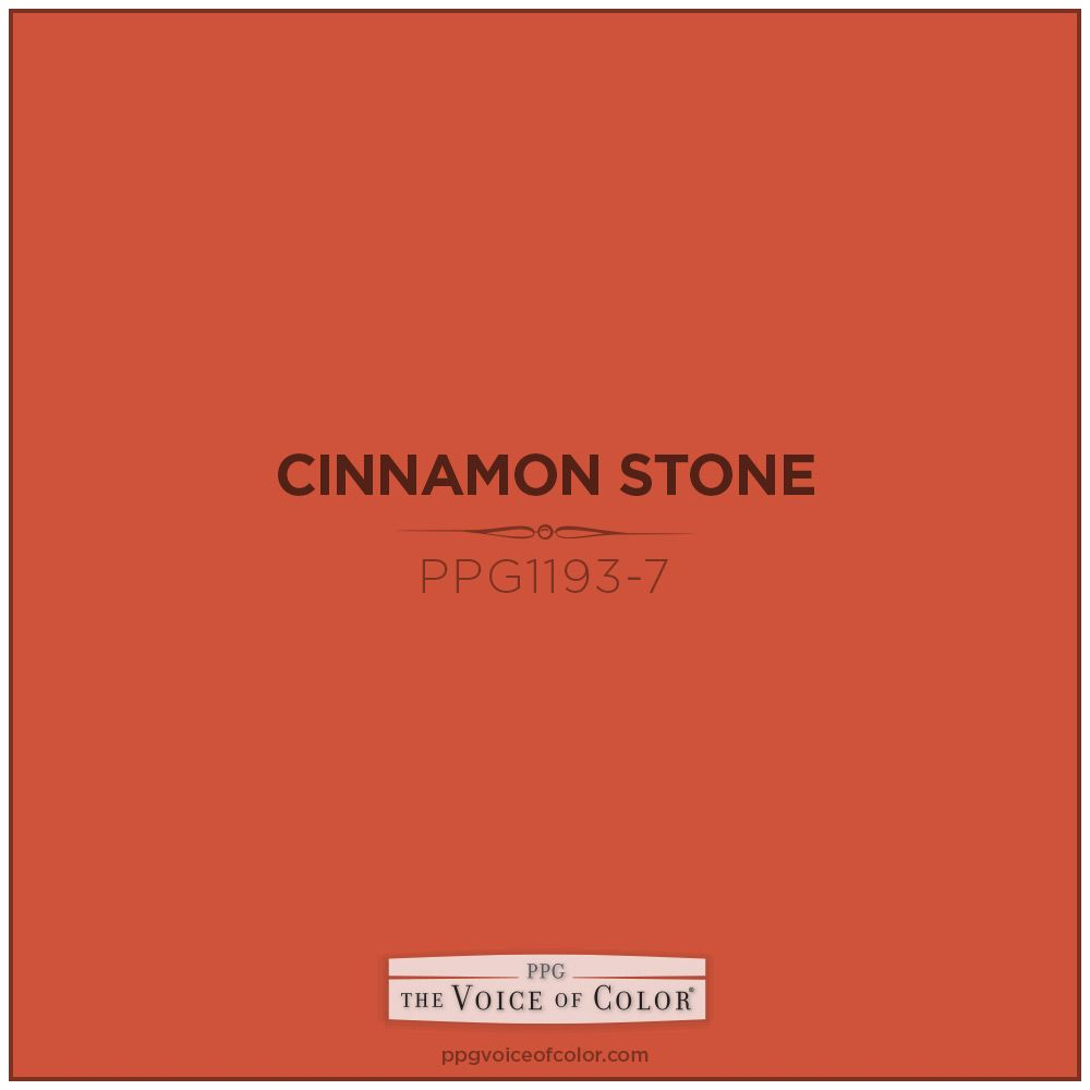Warm Orange Fall Color Inspiration Cinnamon Stone Paint By Ppg Voice Of Like Leaves In Autumn