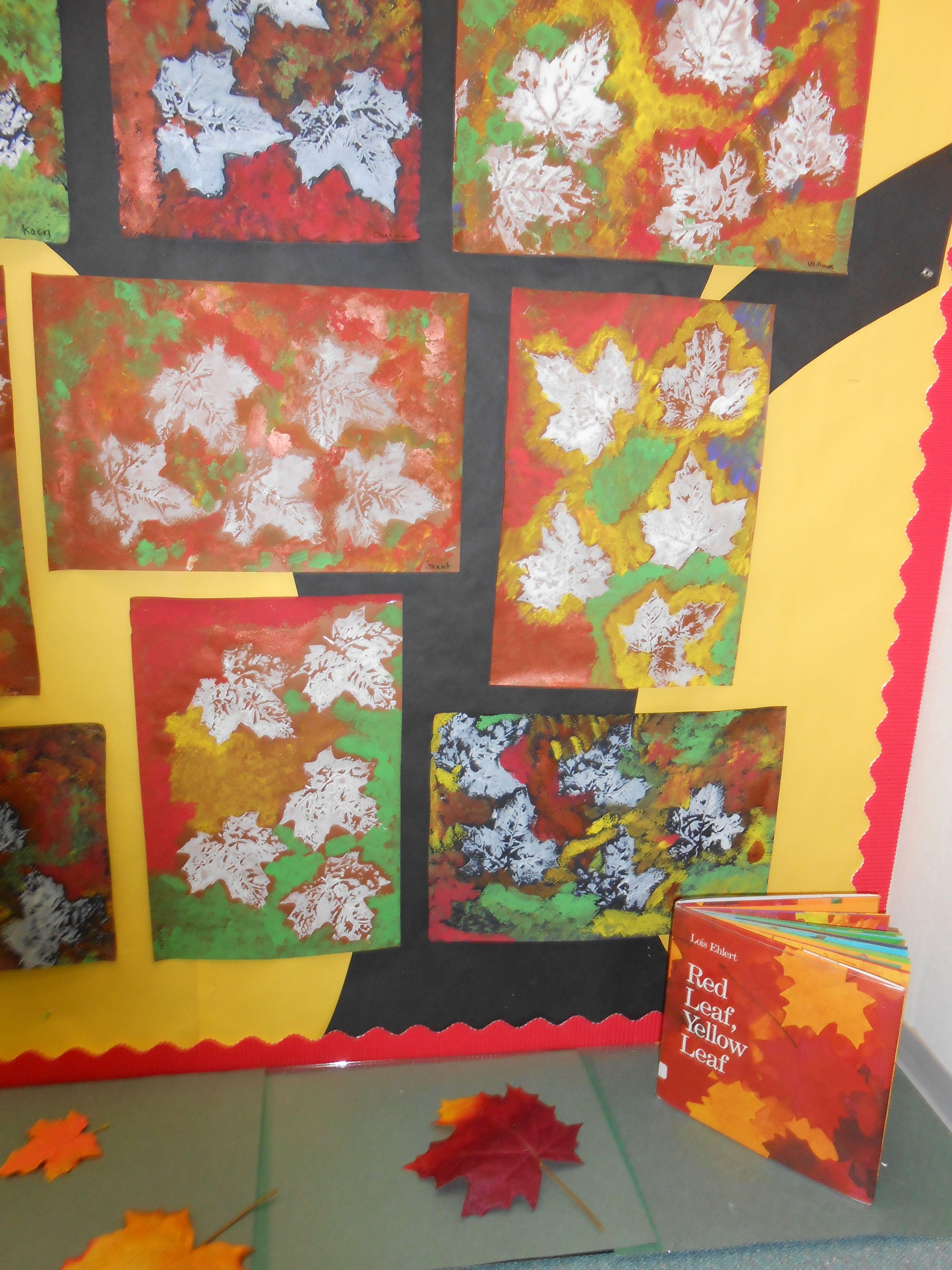 Leaf Prints Red Leaf Yellow Leaf
