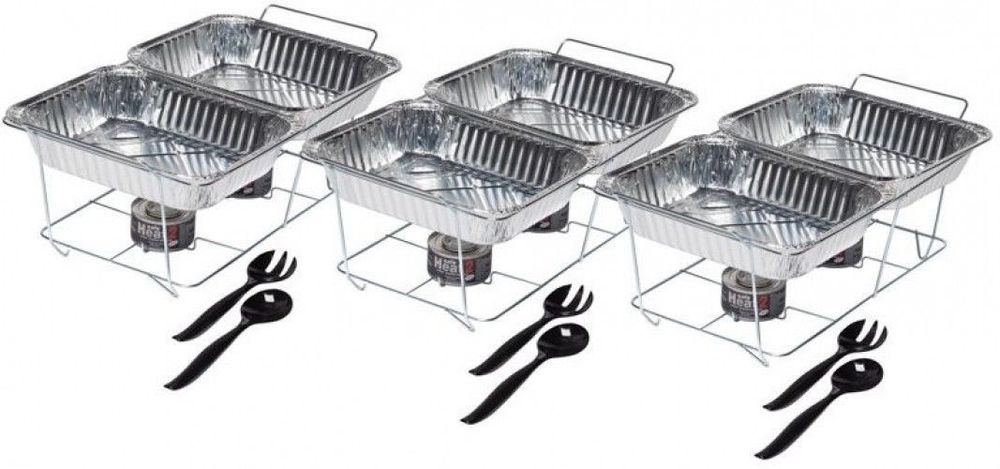Party Food Warmer Serving Pans Buffet, Disposable Buffet Warmers