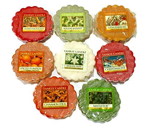 Yankee Candle Tarts Wax Melts Sampler Pack WinterHoliday Scents 8 Pack >>> More home décor info could be found at the image url.