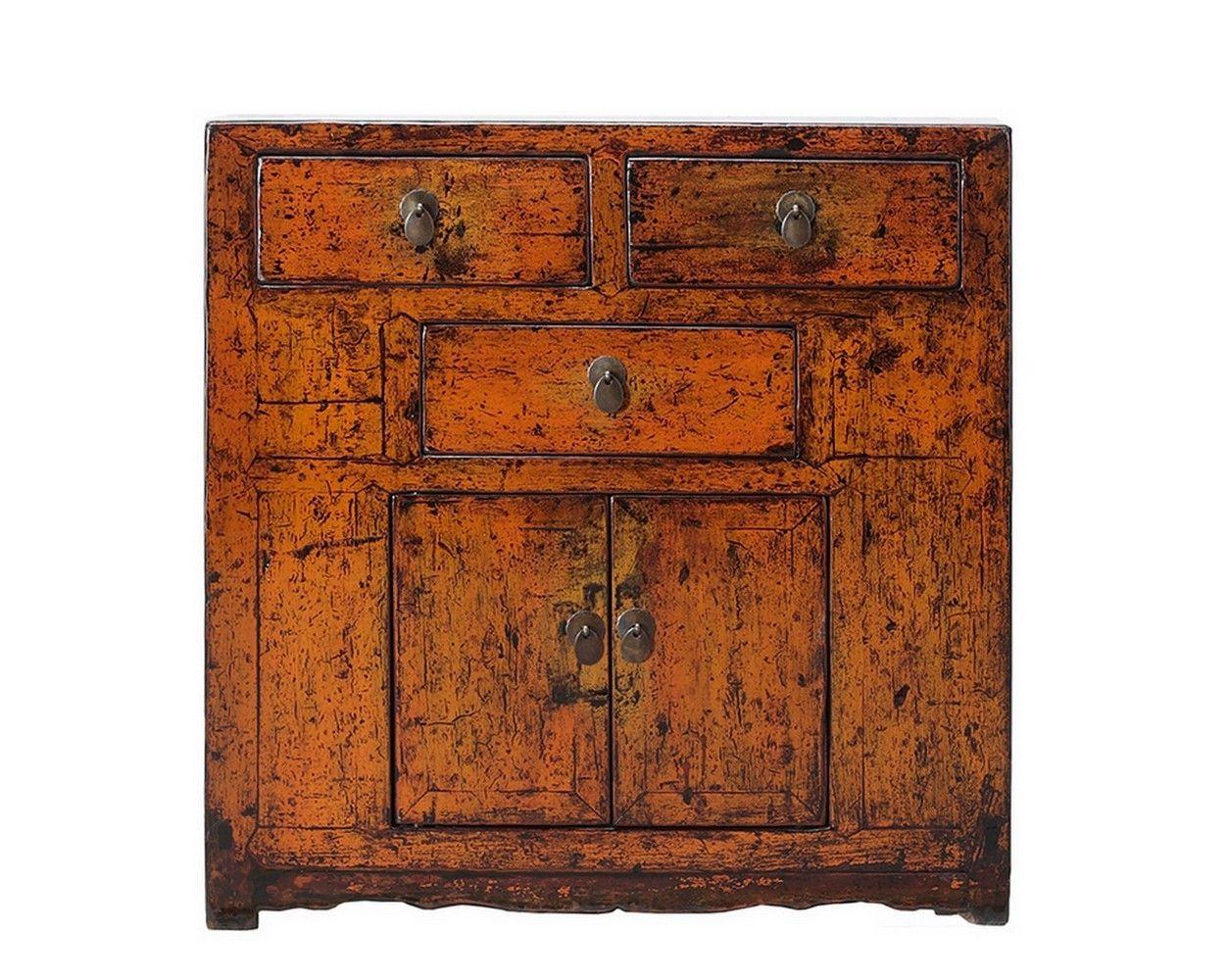Kommode orange-braun - China Möbel - Vintage & Retro Möbel ...