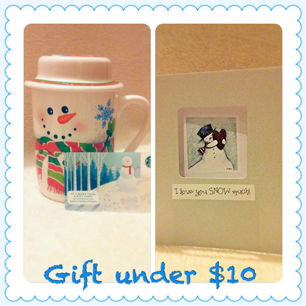 I love you snow much! Cheap and easy idea for teachers or coffee lovers. Cute mug from michaels for $2 and $5 gift card to Starbucks with a blank card and googled snowman image; printed and pasted! Fast and easy