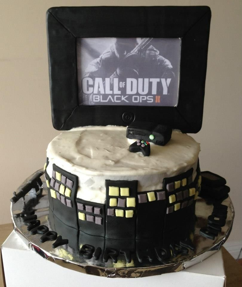 Call of duty cake by stick a cake in it cake