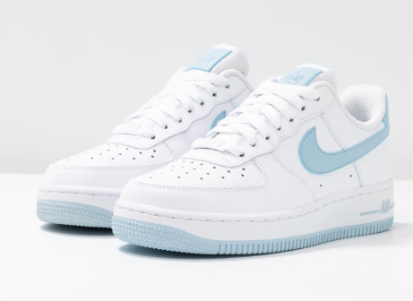 nike air force 1 07 white light amory blue aesthetic shoes dream shoes nike shoes air force pinterest