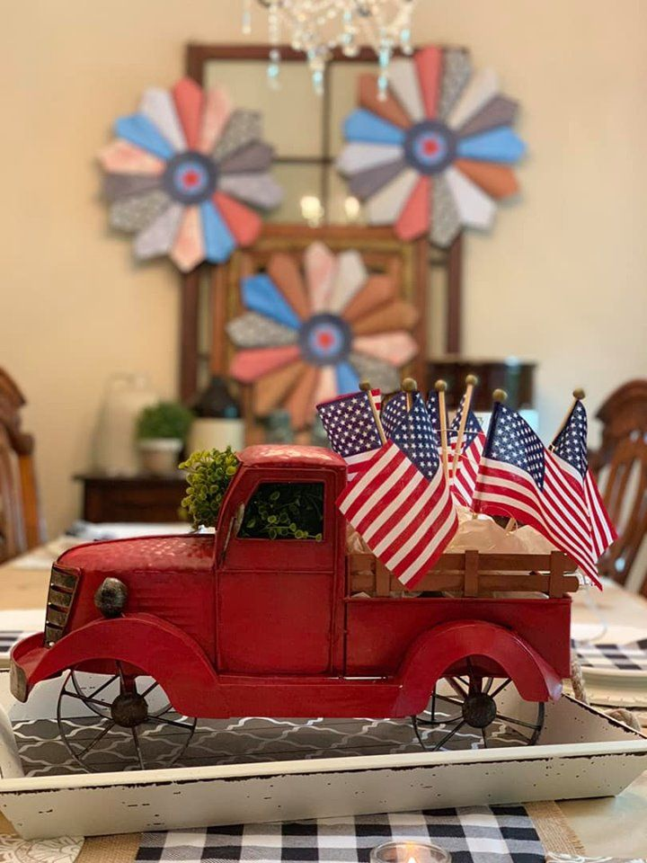 4th of July dining room table decor and design just in ...