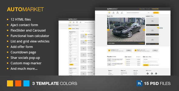 Automarket  Html Vehicle Marketplace Template  If You Like This