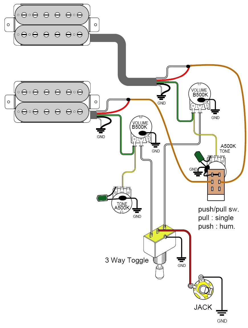 c5ef60a99bf86433675d714b75f31539 pickups wiring schematic 1966 dodge pickup wiring schematic humbucker guitar wiring diagrams at alyssarenee.co