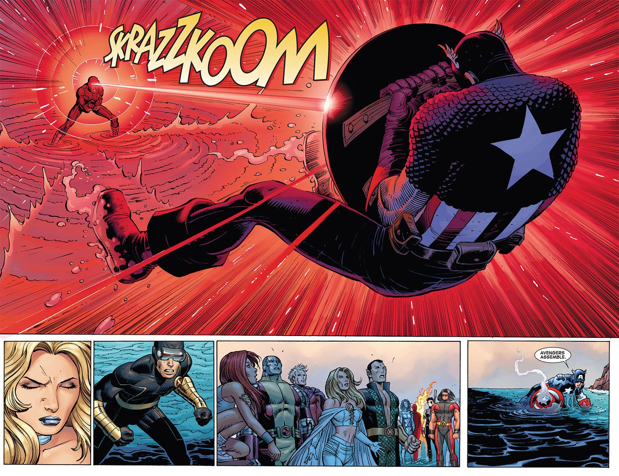 Cyclops Vs Captain America X Men Vs Avengers Http Insidepulse Com Wp Content Uploads 2012 04 031 Jpg Cyclops Marvel Best Comic Books Comic Heroes