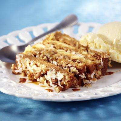 Photo of Layered Dulce de Leche, Coconut and Pecan Cake