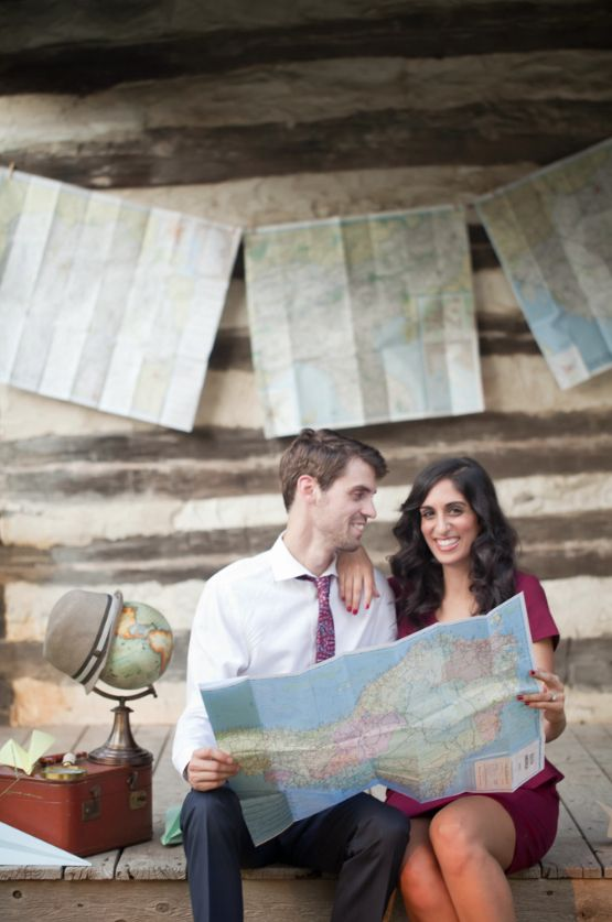 Travel themed engagement session Cami Wade Photography www.camiwade.com