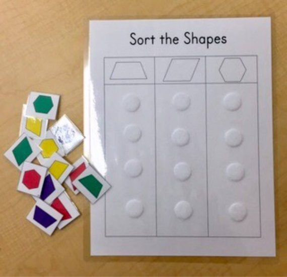 Shapes Sorting Game Learning Game Educational Toy Kindergarten Game