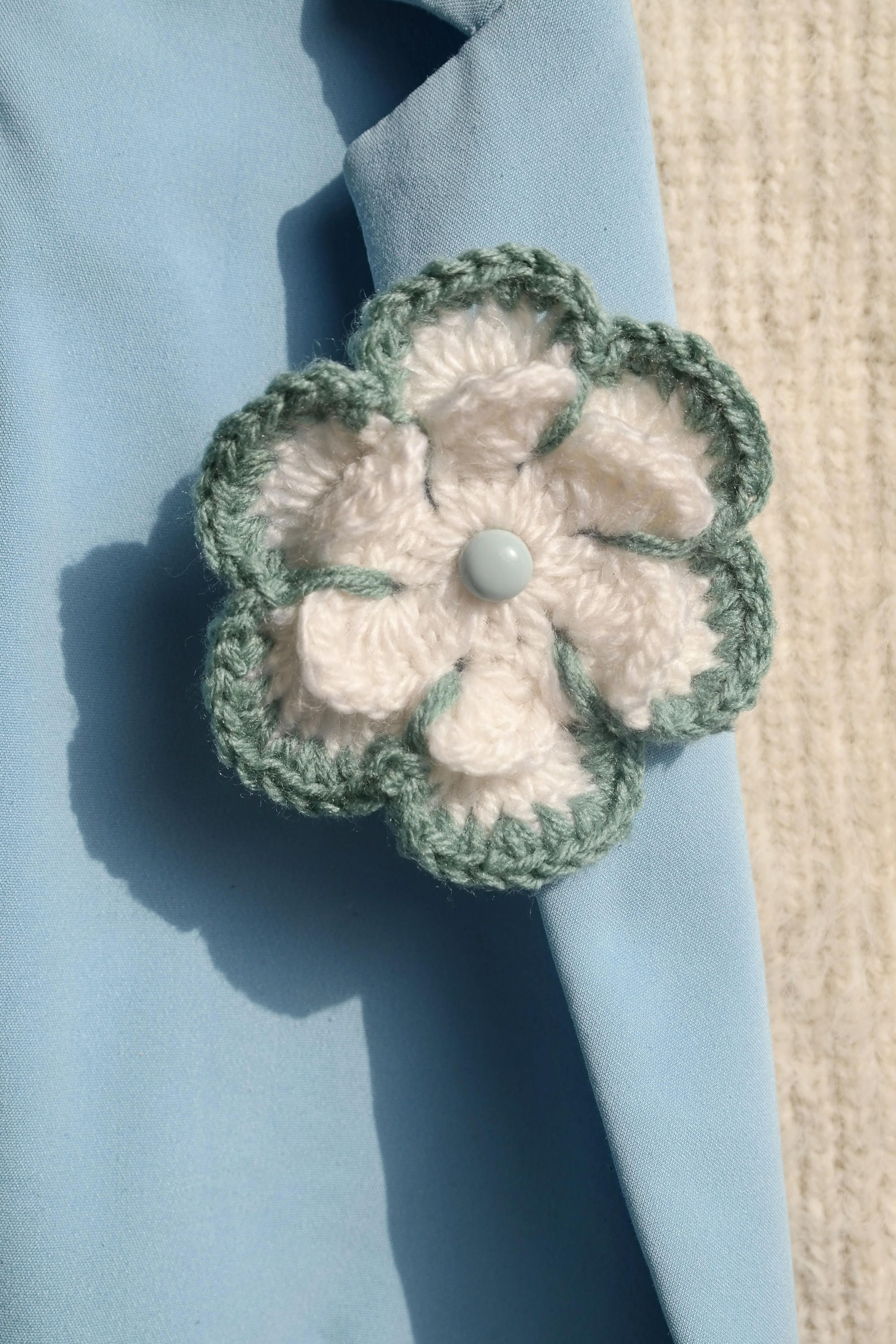 crocheted hair youtube clip flower crochet watch and brooch