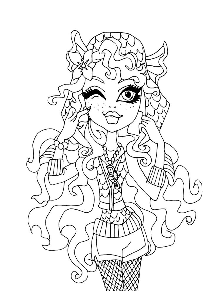 Lagoona Blue Ogle Coloring Page