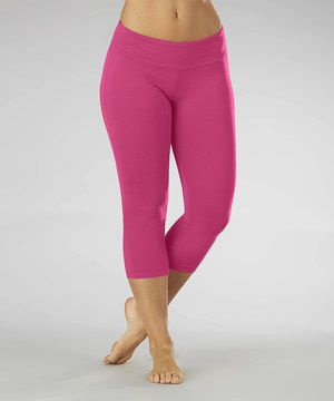 Look at this #zulilyfind! Knockout Pink Dry-Wik Capri Leggings by Marika #zulilyfinds