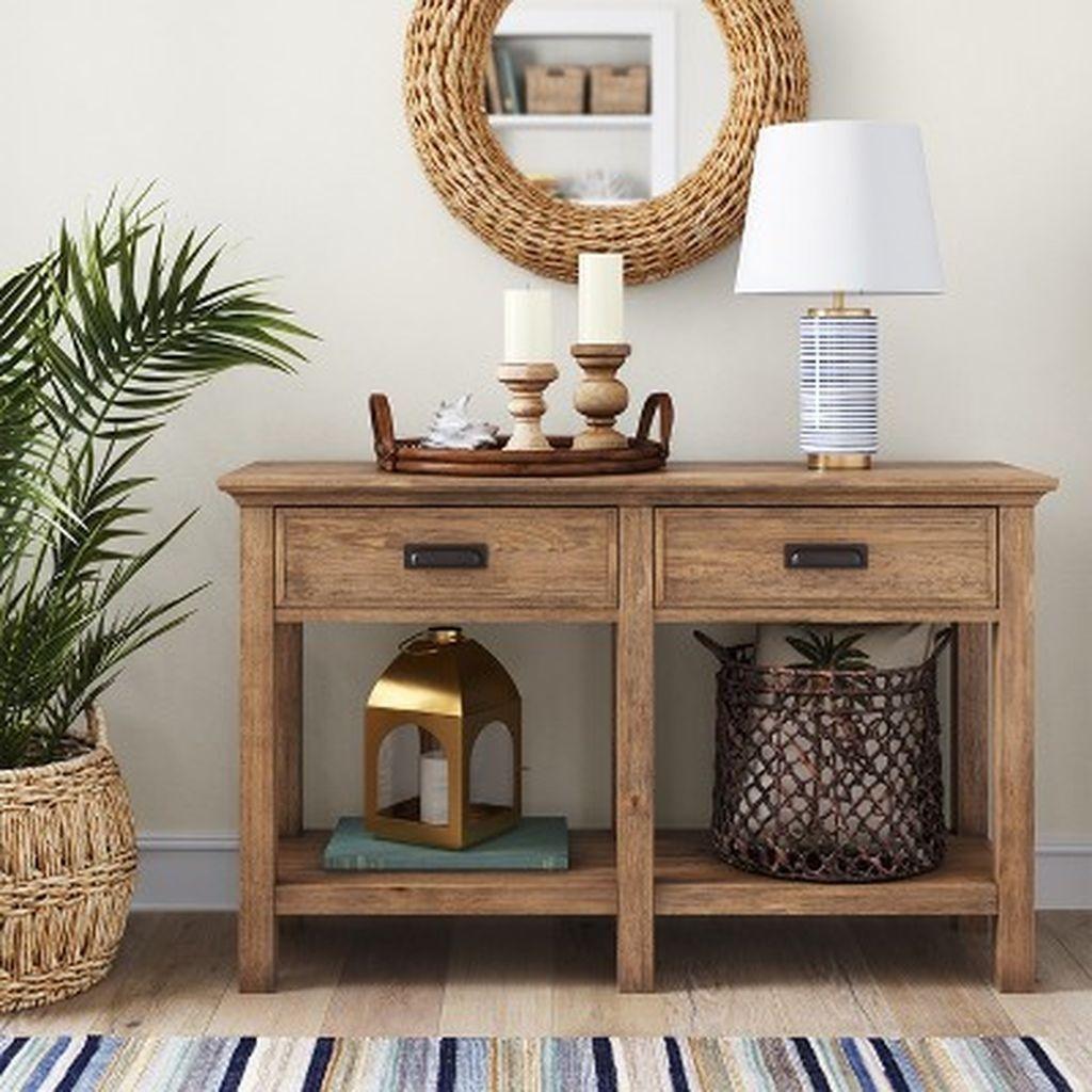 30 modern farmhouse console table design ideas foyer