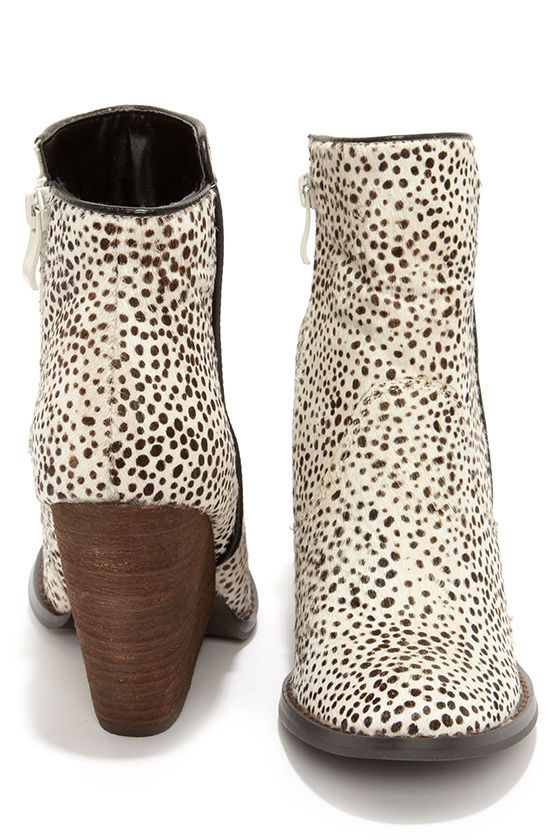 Very Volatile Feverdream Chocolate Chip Pony Hair Booties