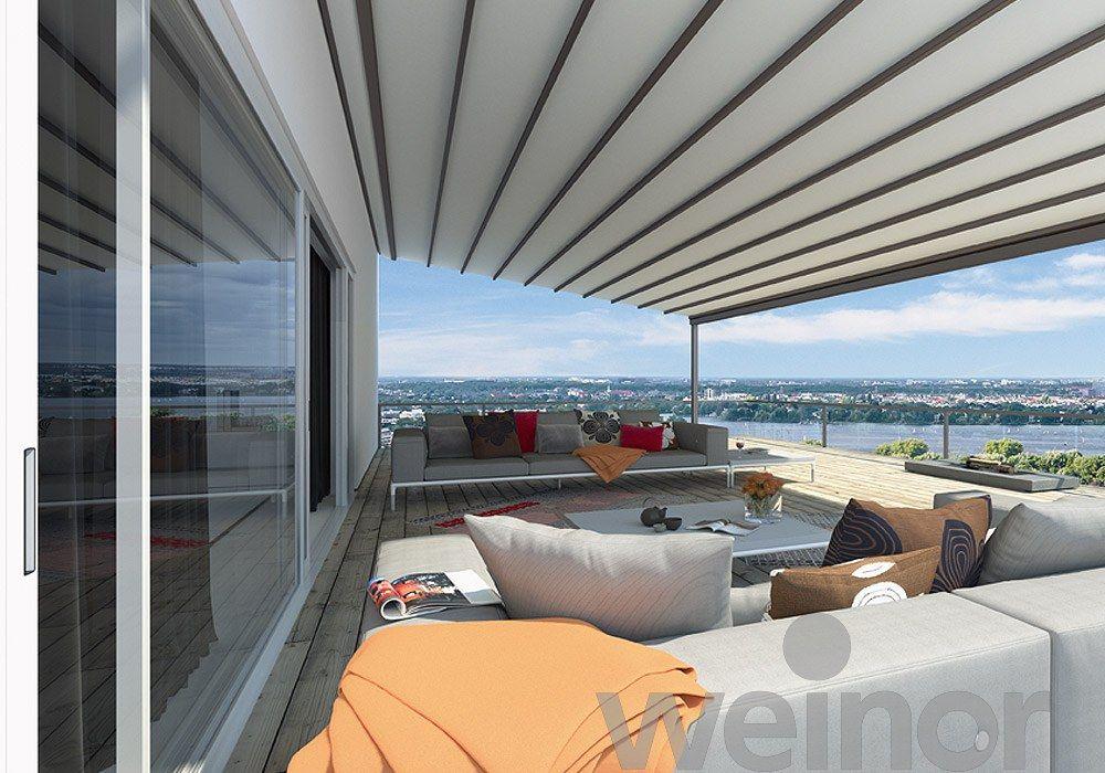 Detail weinor zonneschermen terrasoverkappingen serrezonwering