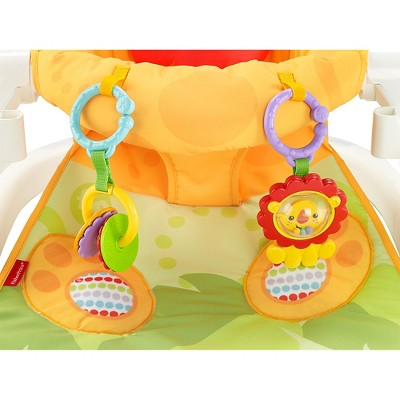 Fisher Price Sit Me Up Floor Seat With Tray Yellow Orange Green