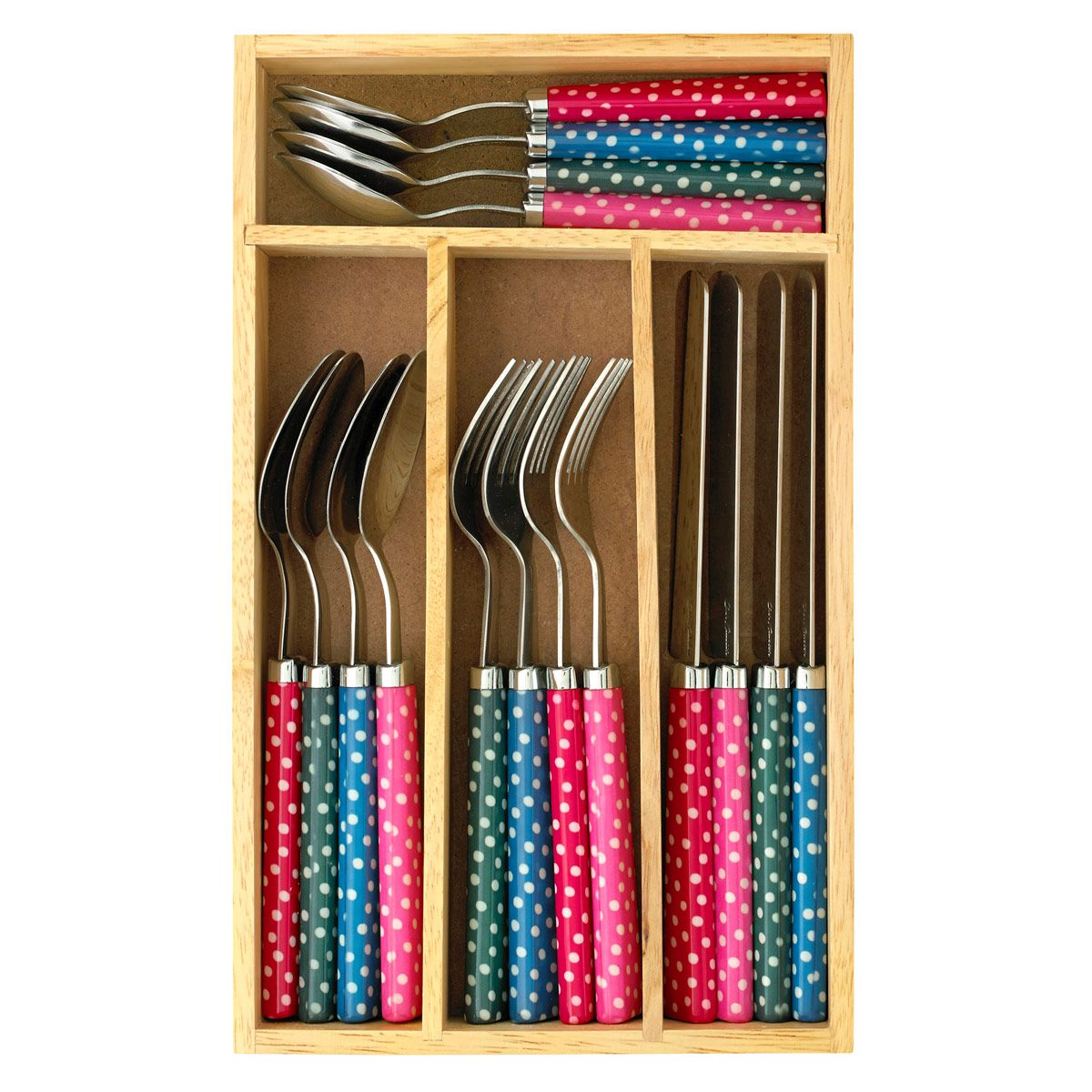 Scattered Spot 16 Piece Cutlery Set | Cooking and Dining | CathKidston  sc 1 st  Pinterest & Scattered Spot 16 Piece Cutlery Set | Cooking and Dining ...