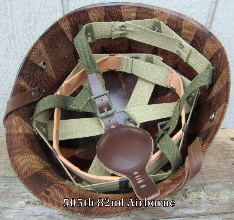 WWII US ARMY M1C OR M2 PARATROOPER HELMET LEATHER CHIN STRAP