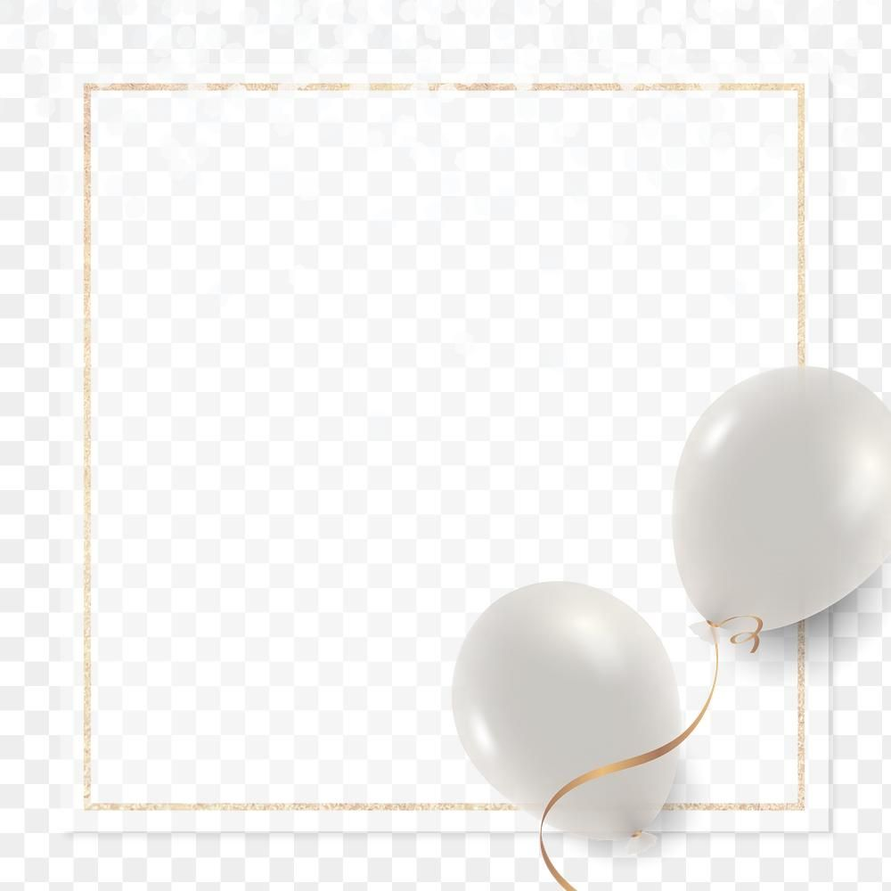 Pearl White Balloons Frame Png In Transparent Background Free Image By Rawpixel Com Kul In 2021 White Balloons Balloon Frame Transparent Background