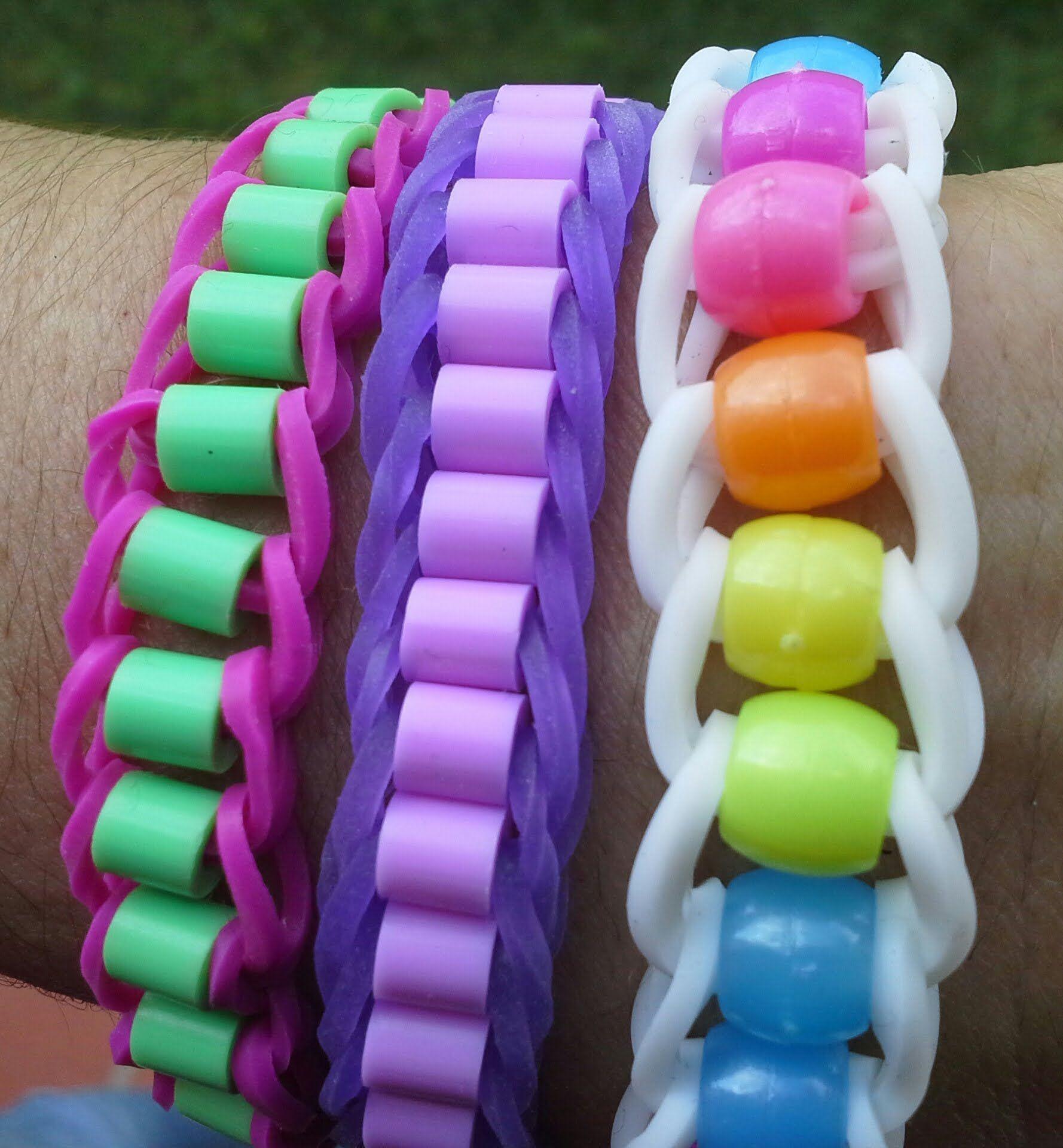 faire un bracelet en lastique avec des perles rainbowloom braceletloom tuto bracelet. Black Bedroom Furniture Sets. Home Design Ideas