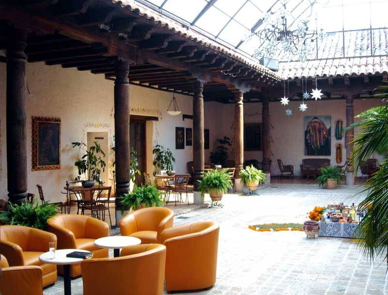 Patio en San Cristóbal de las Casas, México.