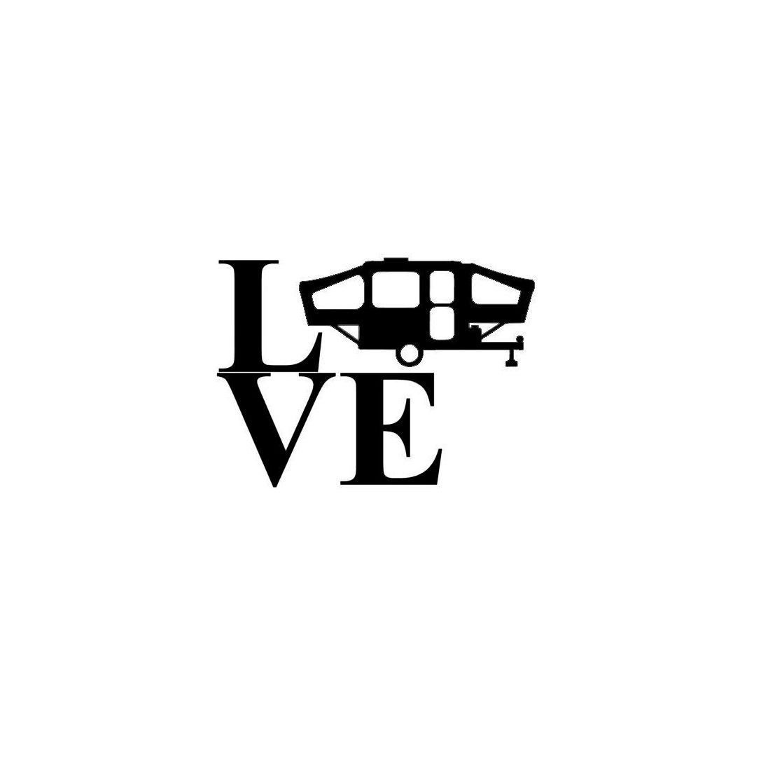 Vinyl Decal Popup Camper Trailer Silhouette Love Can Be Personalized