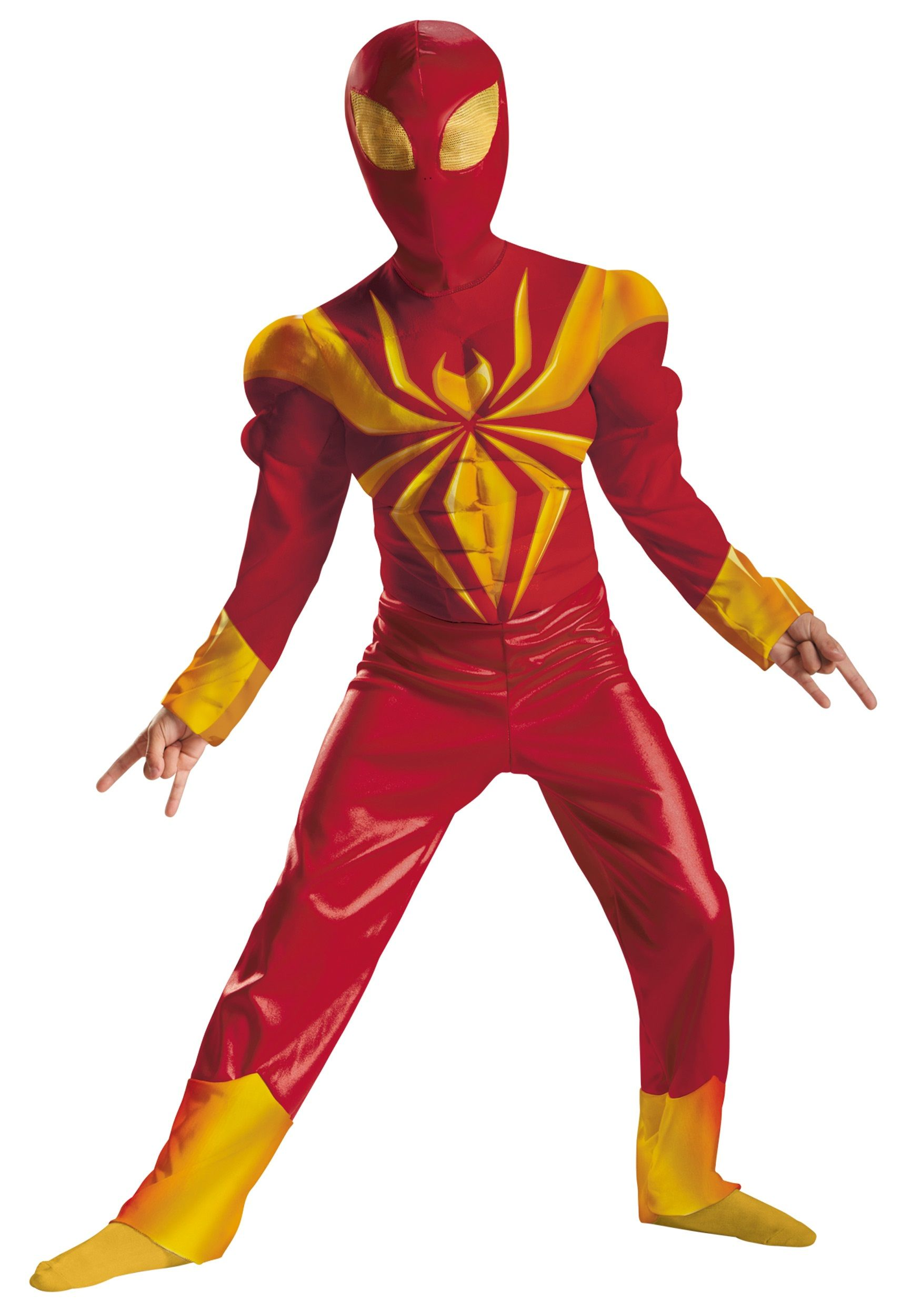 Boys Ultimate Iron Spider-Man Classic Muscle Costume | Costumes ...