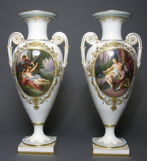A Pair Of Meissen Vases 19th C Meissen Porcelain Pinterest