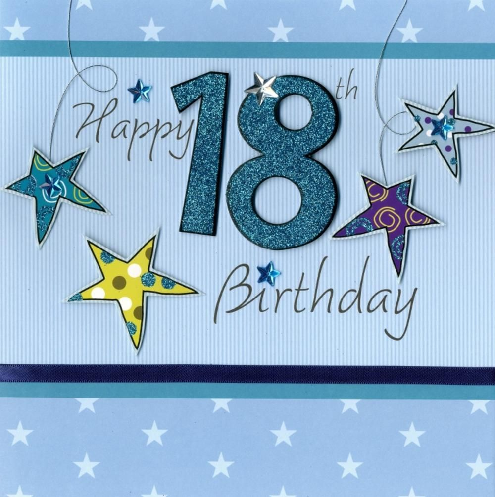 Second Nature Happy 18th Birthday Keepsake Card Cards Birthday Keepsakes 18th Birthday Cards Birthday Cards For Son