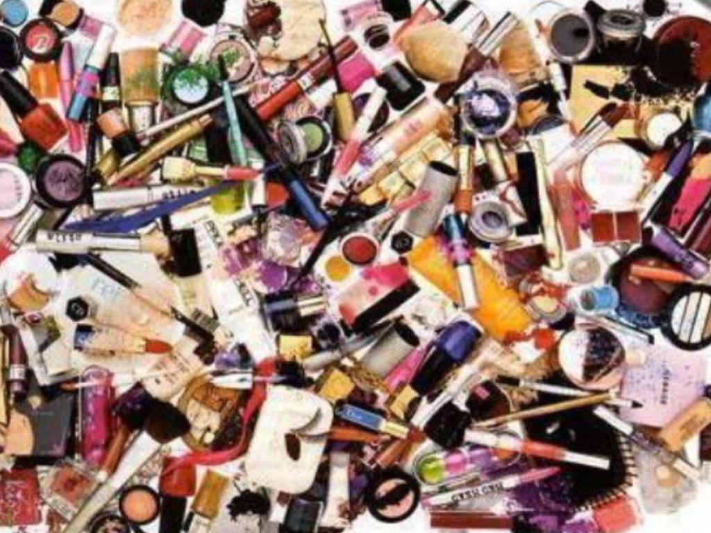 A piles of makeup.
