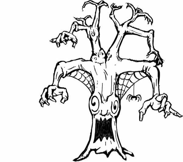 Scary Coloring Pages 9 Monster Coloring Pages Tree Monster Scary Coloring Pages