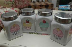 Shaza Living Decor April Cupcake Kitchen Canisters All One Home Ideas