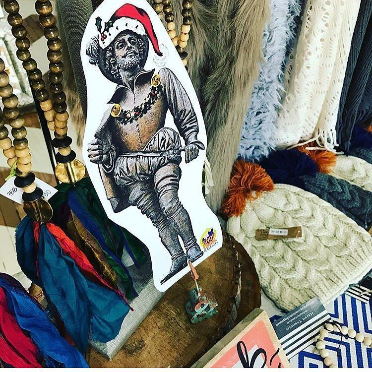 #whereswalter? Choosing a hat and scarf at @monroe.26 to stay warm on this windy day! Find Sir Walter while you shop at #montoe26 and shops around Five Points! Post where he is for a chance to win a gift card to the local business of your choice! #shoplocalraleigh #showsomelocallove #sirwalter #fivepoints #windyday #coldday #holidayshopping