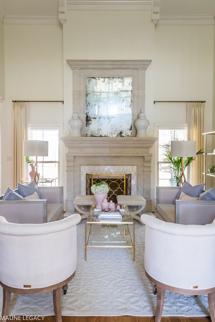 an elegant neutral living room before and after decorating ideas rh pinterest com