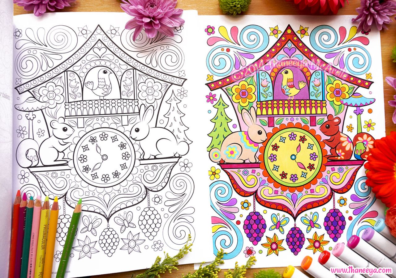 Cuckoo Clock Coloring Page From Happy Campers Coloring