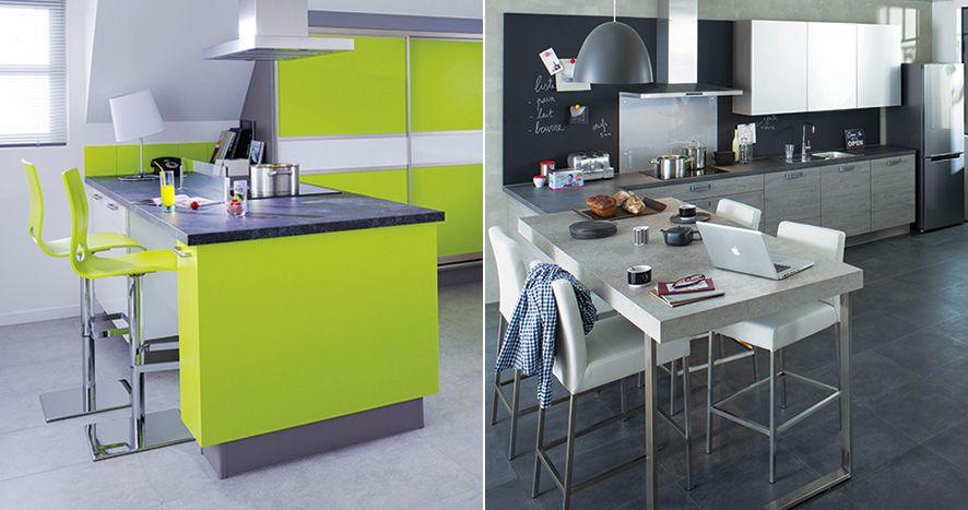 quand la table de cuisine devient meuble design la cuisine a une place de plus en plus importante dans nos intrieurs elle sest tout dabord invite dans - Plan De Travail Cuisine Cuisinella
