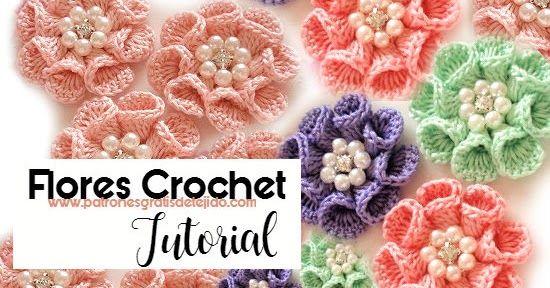 Cómo tejer flor con pétalos cónicos paso a paso con clases ...