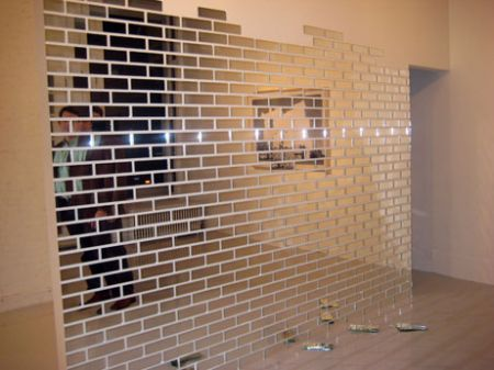 Brick Wall Mirrored Subway Tile, Mirror Wall Panels Glasgow