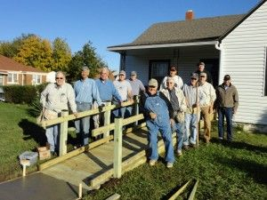 The A Team - building wheelchair ramps for our clients!
