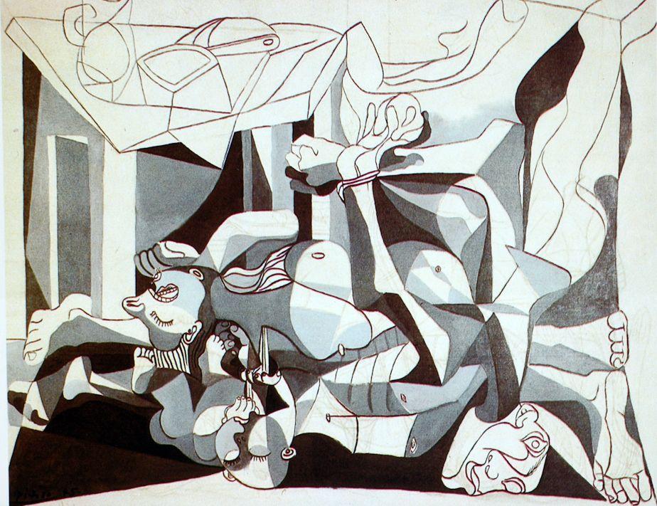 Le Charnier (1945) | Peintures picasso, Peintures