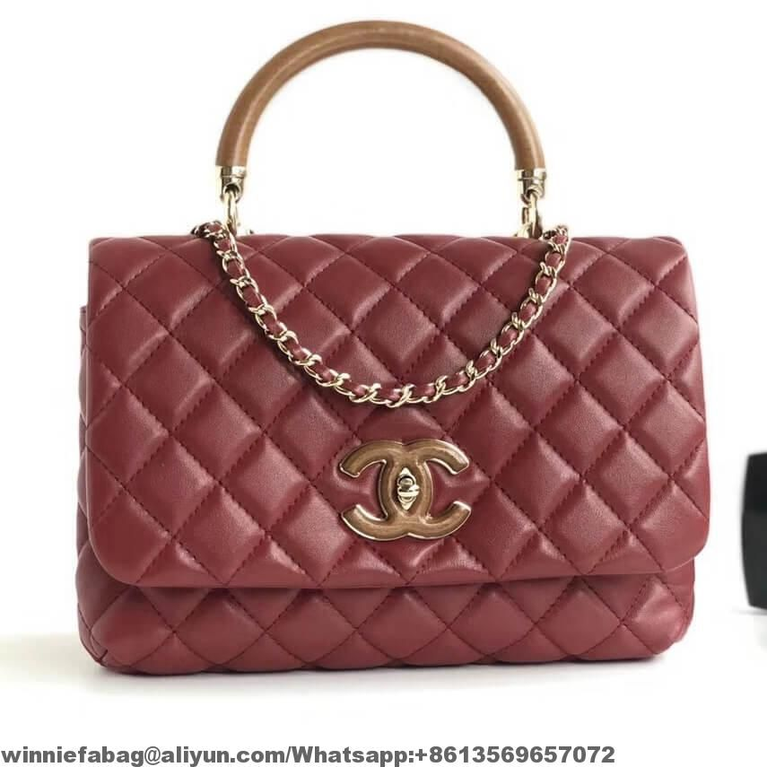 0c5a9f7c93996c Chanel Lambskin Knock On Wood Top Handle Bag A57342 2018 | Chanel ...