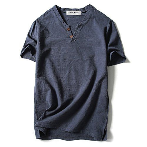 iLXHD Summer Mens Hoodie Cotton Linen SOID Color Short Sleeve Hooded T Shirts Tops Blouse