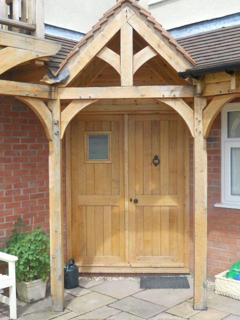 Wooden luxury green oak porch front door canopy handmade & Wooden luxury green oak porch front door canopy handmade   Front ...